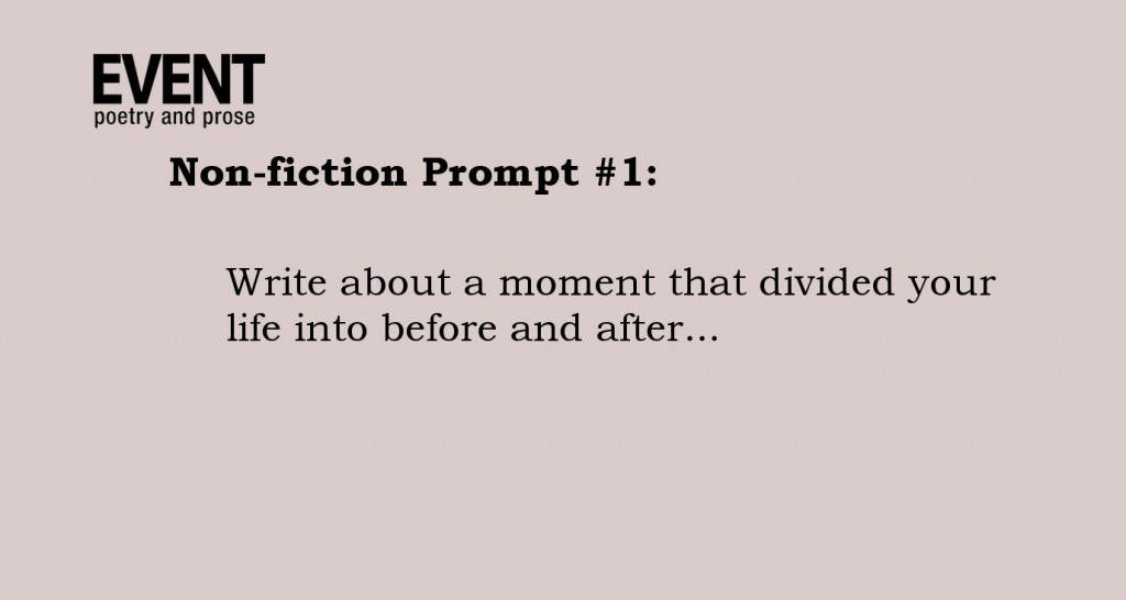 Creative Writing Prompts   Creative Nonfiction Prompts