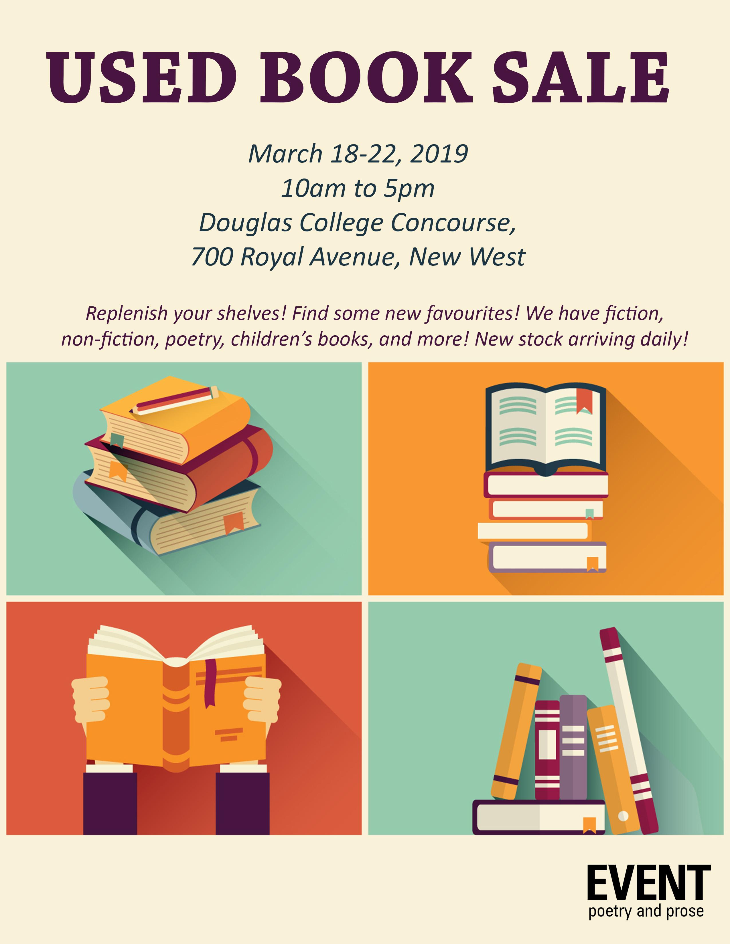 EVENT's Annual Fundraising Book Sale! - EVENTEVENT