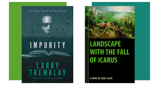 book covers from Larry Tremblay and Zsolt Alapi